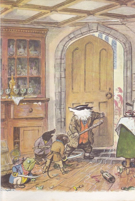 Wind in the Willows Book Print illustration by PrintsOfYesteryear
