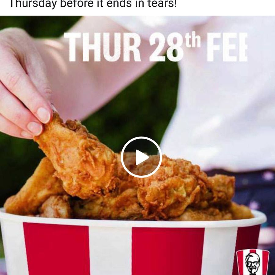 [QLD] 21 Pieces of Chicken for 21 KFC via App Kfc