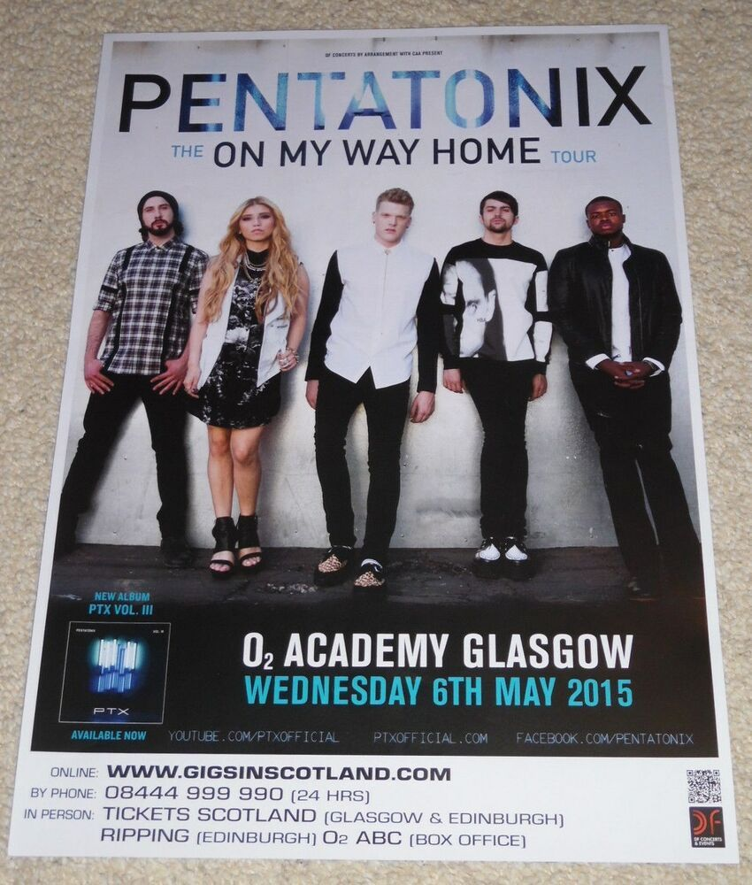 Pentatonix CONCERT POSTER - may 2015 live music show gig tour poster