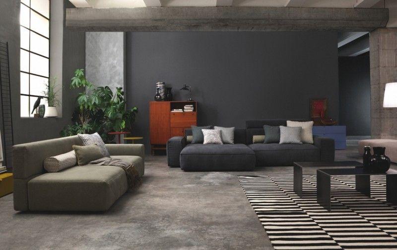 Sofa in Grau \u2013 50 Wohnzimmer mit Designer Couch Wohnzimmer Designs