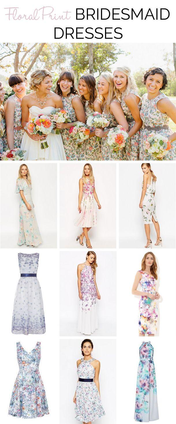 Get the Look: Floral Print Bridesmaid Dresses | Brautjungfern und ...