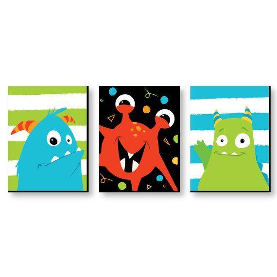 "Monster Bash Kids Room, Nursery & Home Décor 7.5"" x 10"