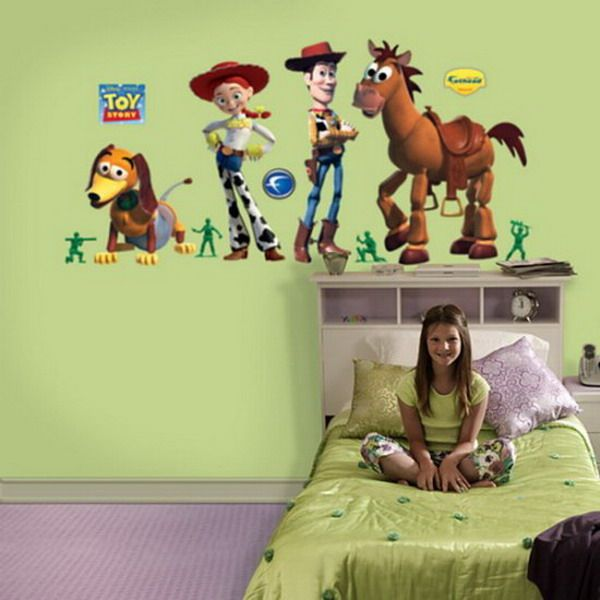 Cheap Wall Decals - Wonderful Kids Toys Story Disney Bedroom Wall Sticker Toys Story Kids Wall Sticker  | #KidsWalldecals #walldecals #walldecors #wallarts #wallstickers