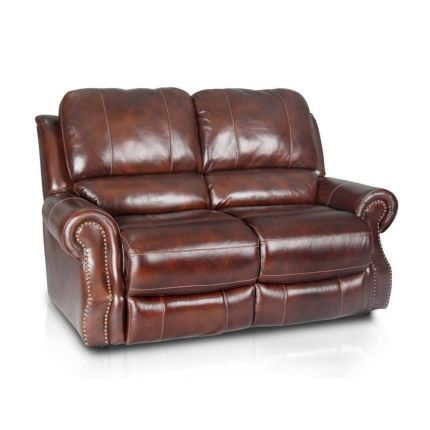 Groovy F18028 213507Reclv 69 Tobacco Leather Match Dual Reclining Gamerscity Chair Design For Home Gamerscityorg