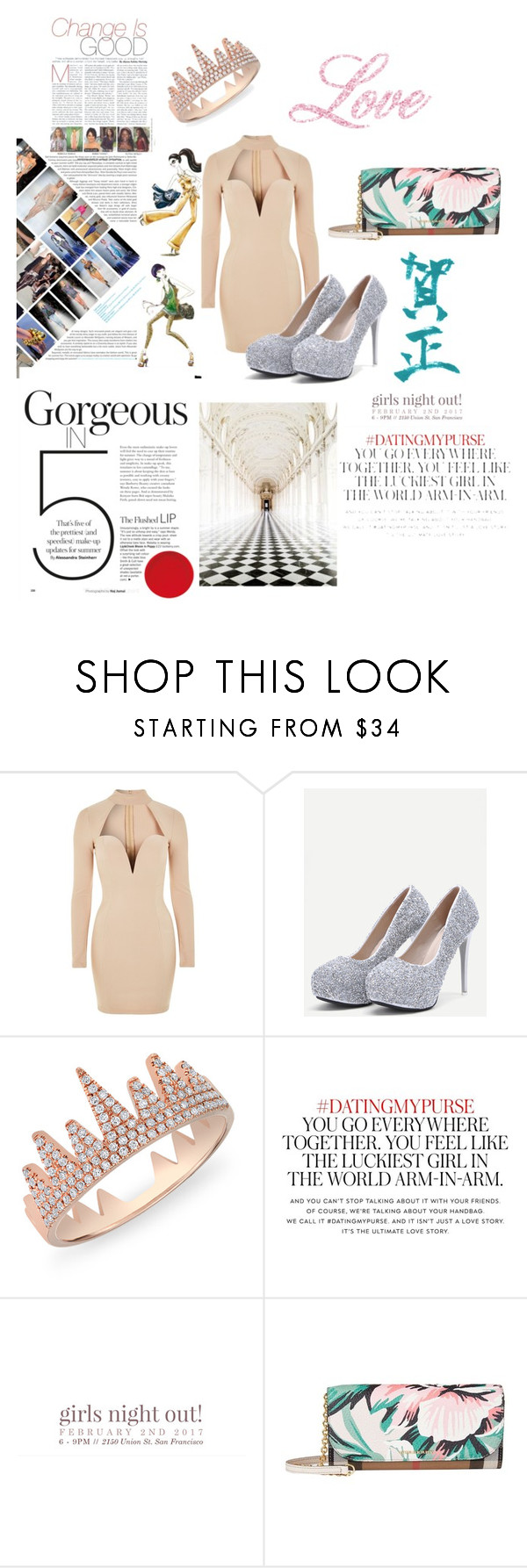 """You Can Buy Everything"" by kiarra7890 ❤ liked on Polyvore featuring Rare London, Anne Sisteron, Kate Spade and Burberry"