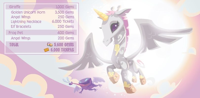 All You Need To Be A Giraffe Angel Is Have Golden Unicorn Horn
