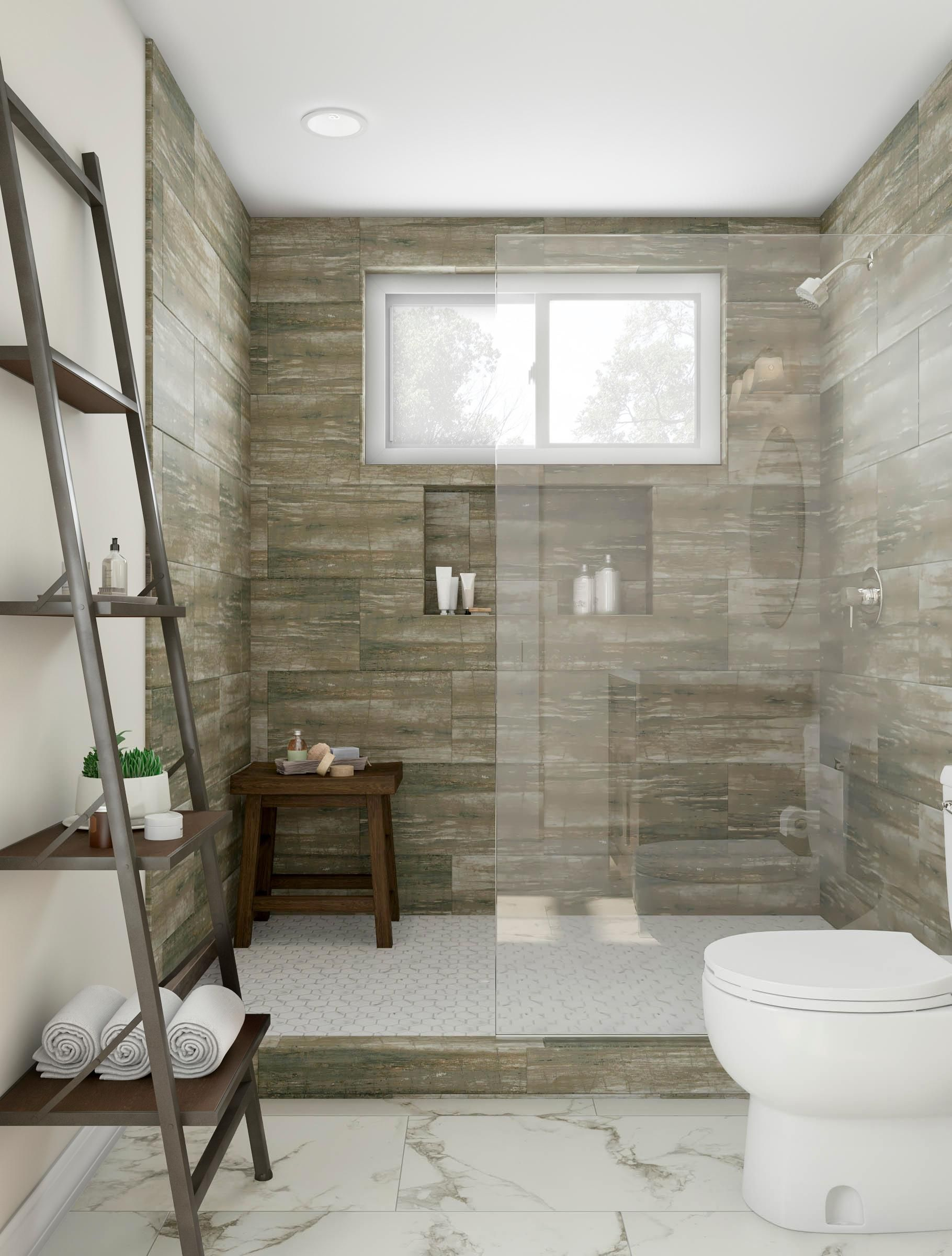 Replicate the feeling of showering outdoors with a spalike