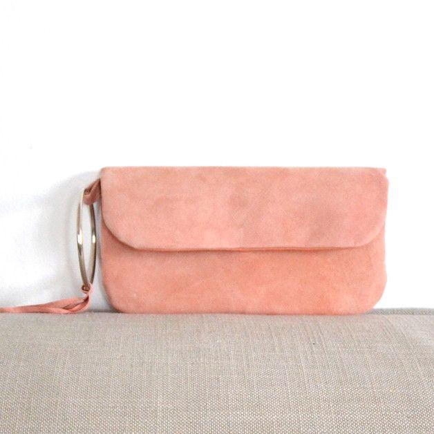 hellrosa Clutch Handtasche