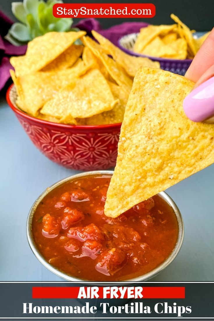 Easy Air Fryer Tortilla Chips is a quick 10 minute recipe