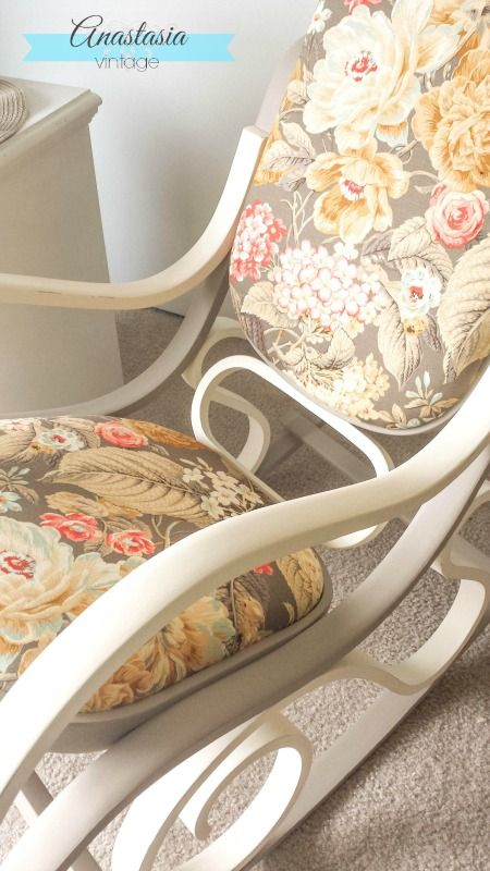 Two Tone Bentwood Rocking Chair Makeover