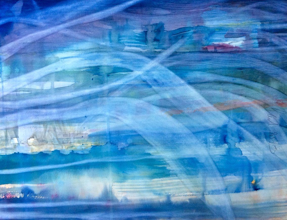""""""" Iré con el viento...""""  Acuarela sobre papel  Fabriano  artist 300 fe gf 100% algodón. 70x50 cm"""