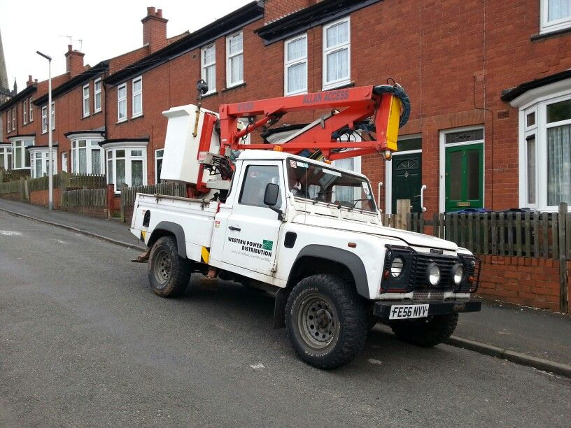 Western Power Distribution Defender 110 with Cherry Picker