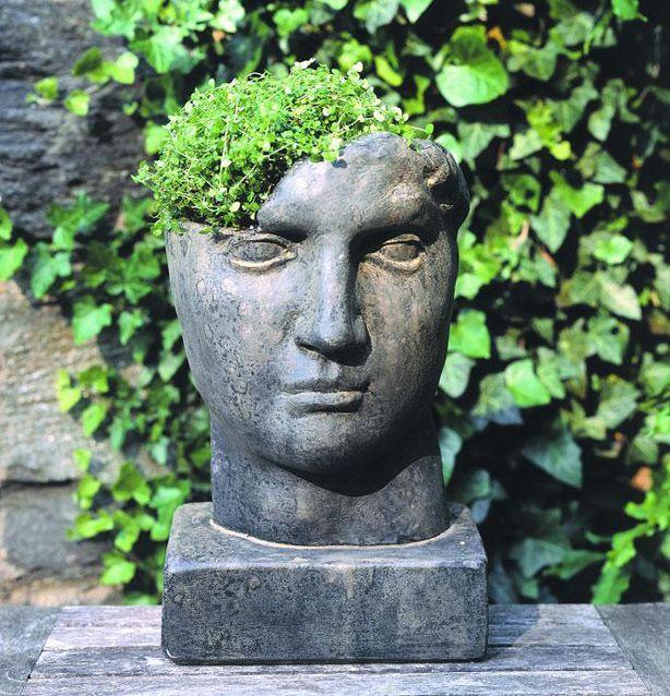 Head Planters And Concepts Inspire Bohemia: Stone Head Garden Planters