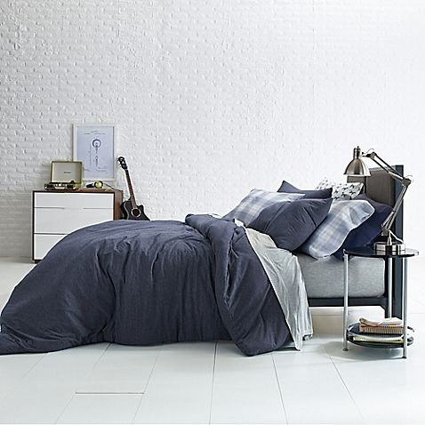 Bed Bath And Beyond Jersey Sheets Impressive Jersey Mini Fullqueen Comforter Set In Navy  Boys Bedroom Design Ideas