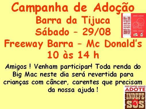BONDE DA BARDOT: RJ: Feira de adoção de animais na Barra da Tijuca, neste sábado (29/08) http://goo.gl/qgmqn5