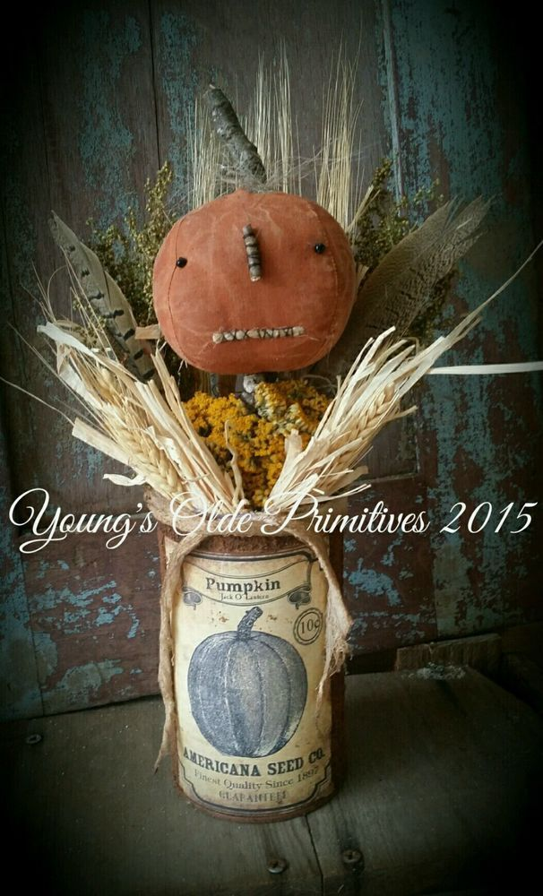 Primitive Jack and Friend Doll Halloween//Fall Pumpkin JOL Grubby