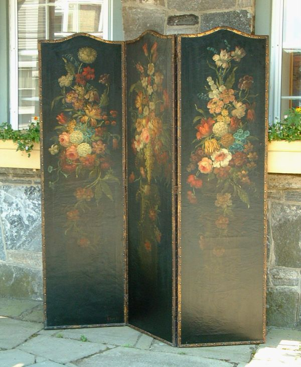 Hand painted floral screen