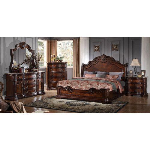 Fletcher Panel 5 Piece Bedroom Set In 2018 Furniture Pinterest