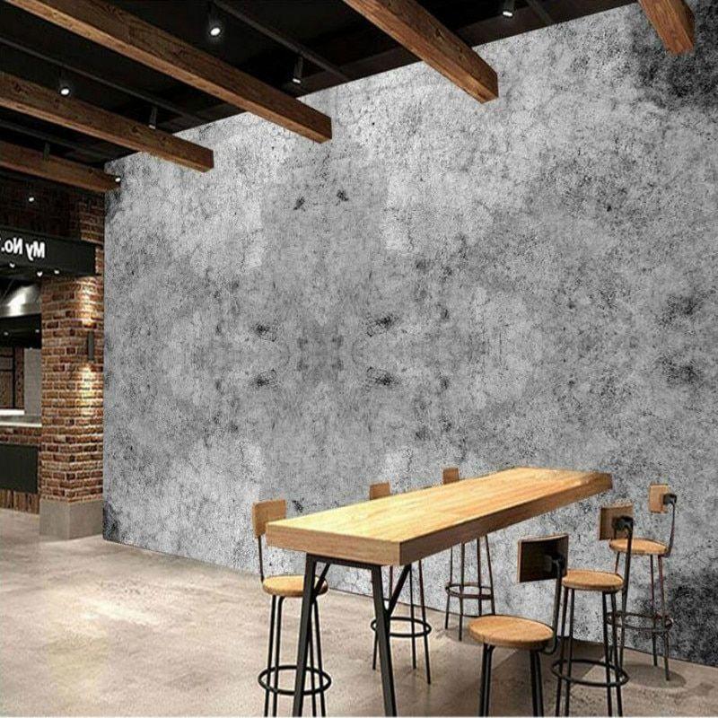 3d Wallpaper For Walls Home Improvement Modern Wallpaper Nostalgic Retro Industrial Wall Of Concrete Modern Wallpaper 3d Wallpaper For Walls Concrete Wallpaper