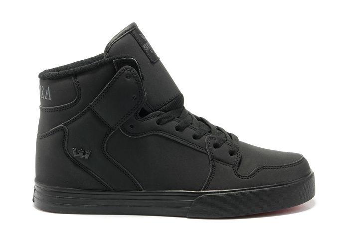 Supra Vaider Mens Nubuck All Black | Supra shoes, Nike shoe