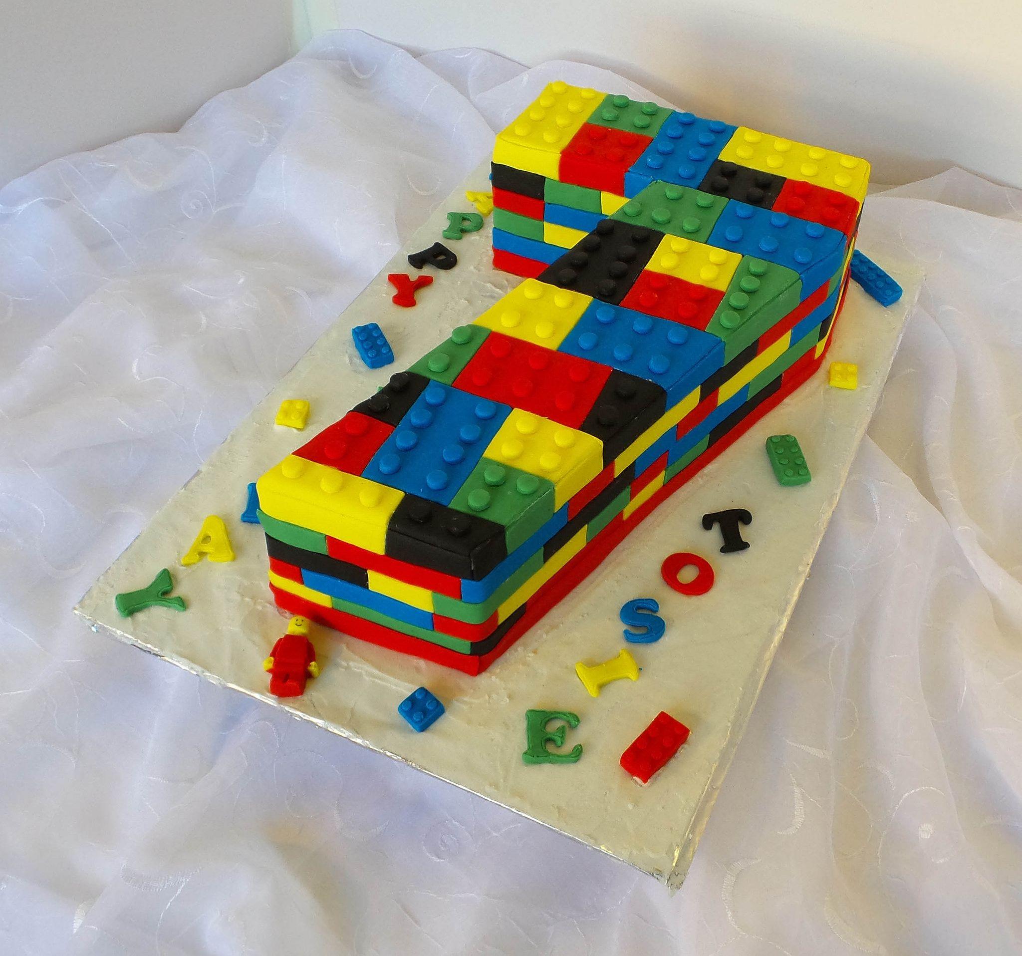 Pleasing Lego Themed Birthday Cake With Images Lego Birthday Cake Funny Birthday Cards Online Fluifree Goldxyz