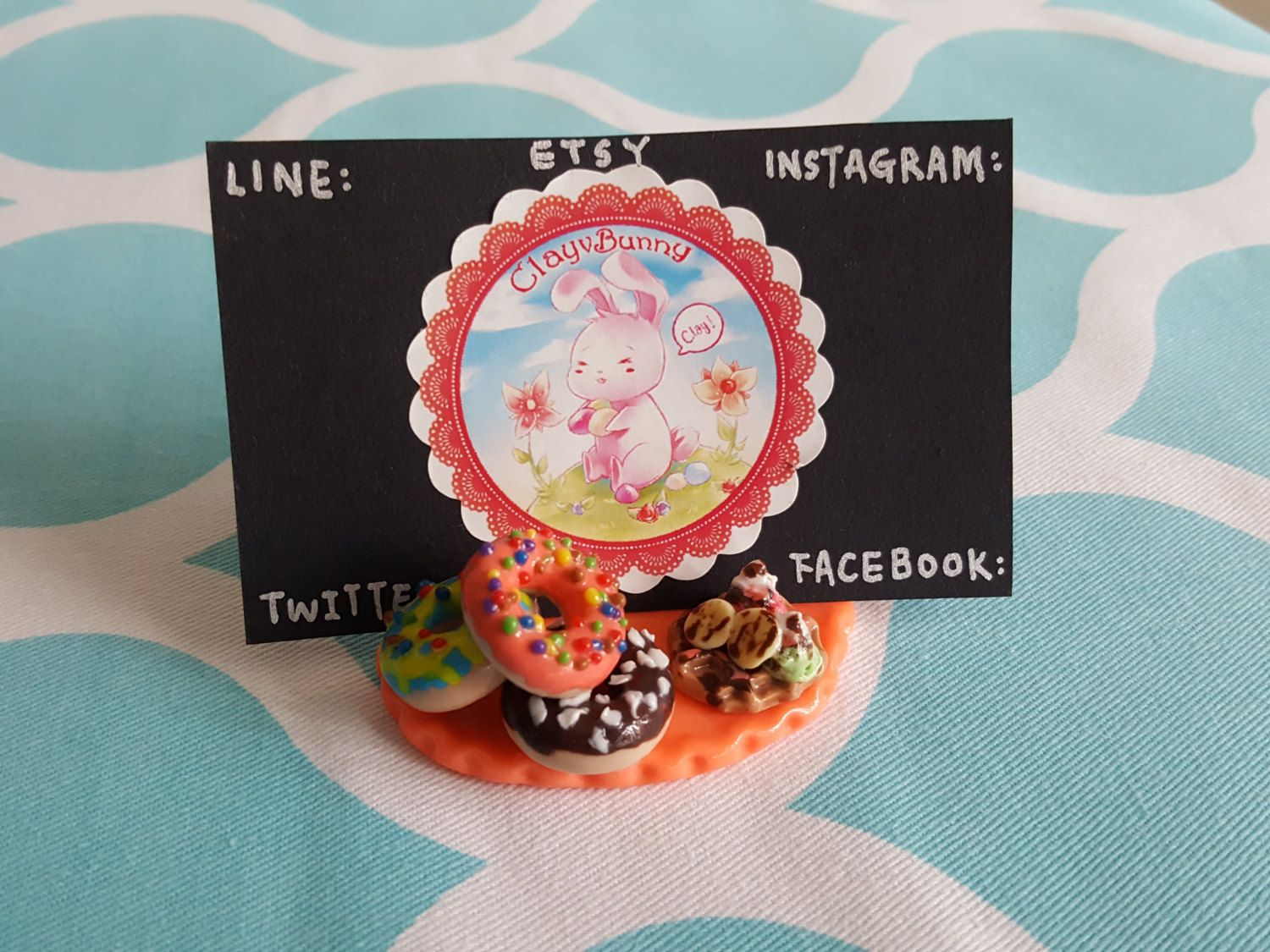 This is my handmade dessert name card holder clay business card this is my handmade dessert name card holder clay business card holder clay donuts magicingreecefo Gallery