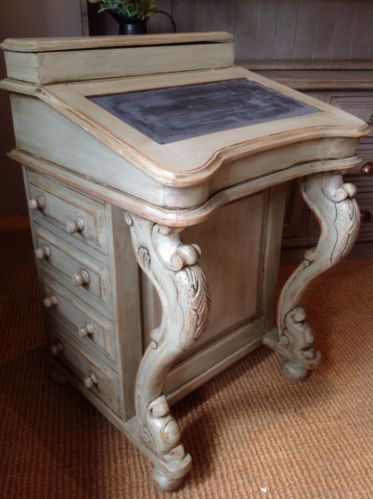 Hand Painted Reproduction Davenport Style Desk Bureaux French