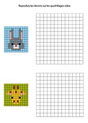 Pixel Art à Reproduire Exercice à Imprimer Pour Maternelle
