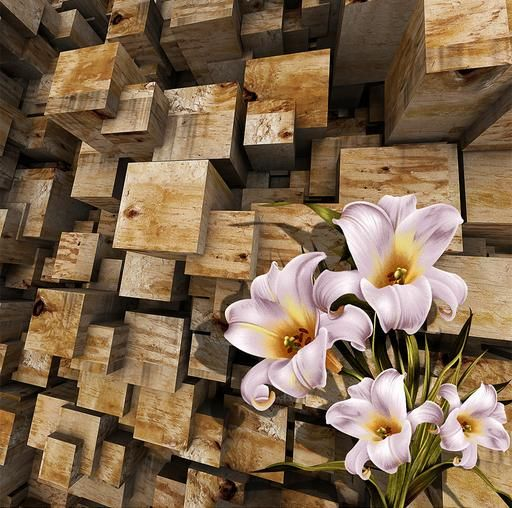 3d bodenbelag wandbild tapete 3d blumen zimmer wallpaper landschaft 3d bodenfliesen f r. Black Bedroom Furniture Sets. Home Design Ideas