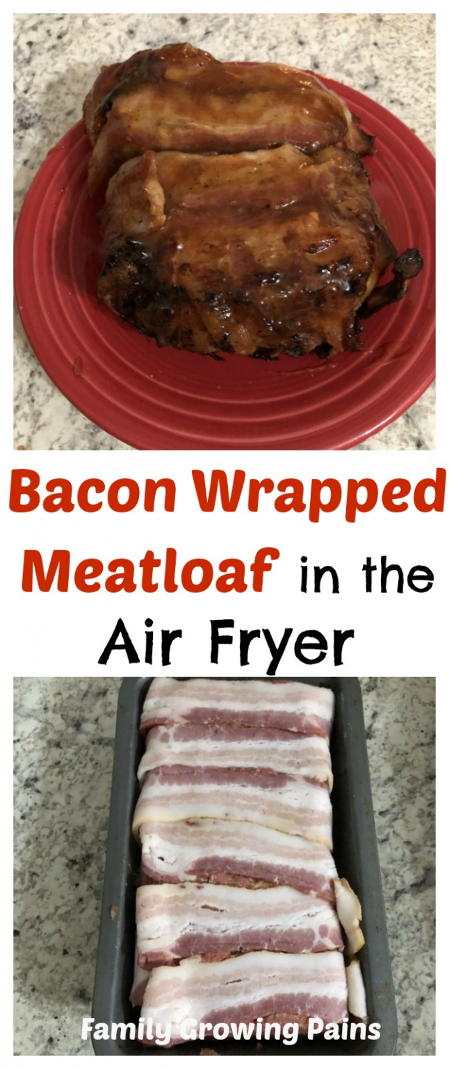 Air Fryer Bacon Wrapped Meatloaf Recipe Bacon wrapped