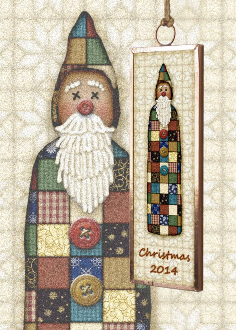 Gingerbread Studio has been creating collectible Christmas ornaments since 1999 This Santa is part of a set featuring a Santa Snowman Angel and a tree Collect all four Dated ornaments are a great gift for first home new baby first Christmas together! Attach to a bottle of wine with a big bow for a