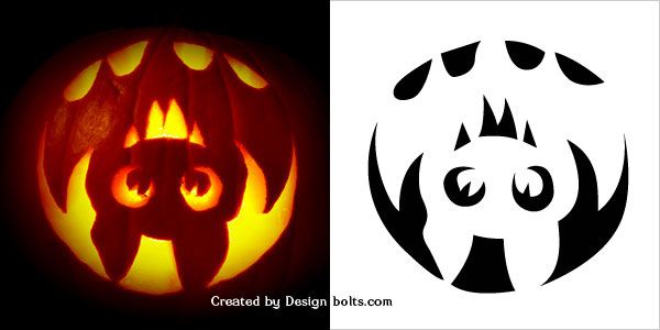 image relating to Free Printable Pumpkin Templates named 10 Cost-free Halloween Overwhelming Pumpkin Carving Stencils, Models