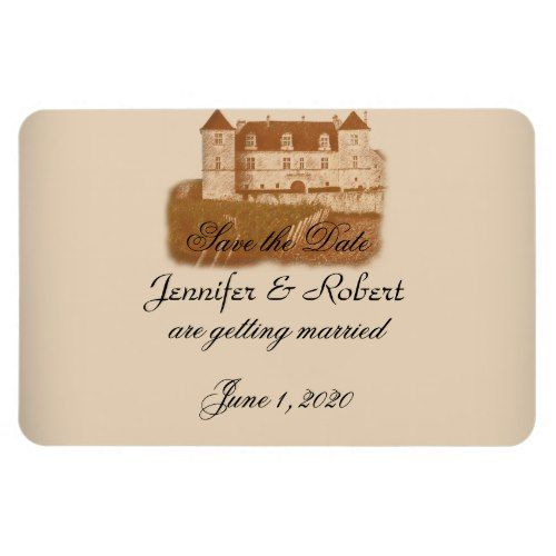 Winery Wedding Save the Date Vintage Winery Wedding Save the Date Rectangular Photo Magnet
