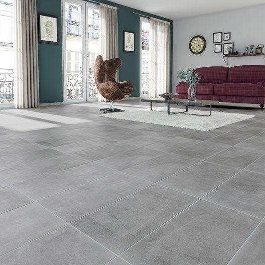 Carrelage sol et mur gris effet béton New cottage l30 x L604 cm - dalle beton interieur maison