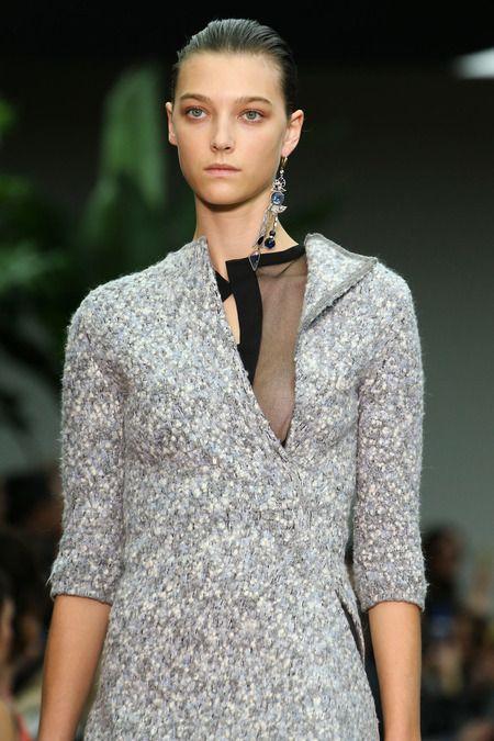 Céline F/W 2014, grey knit dress, single earring