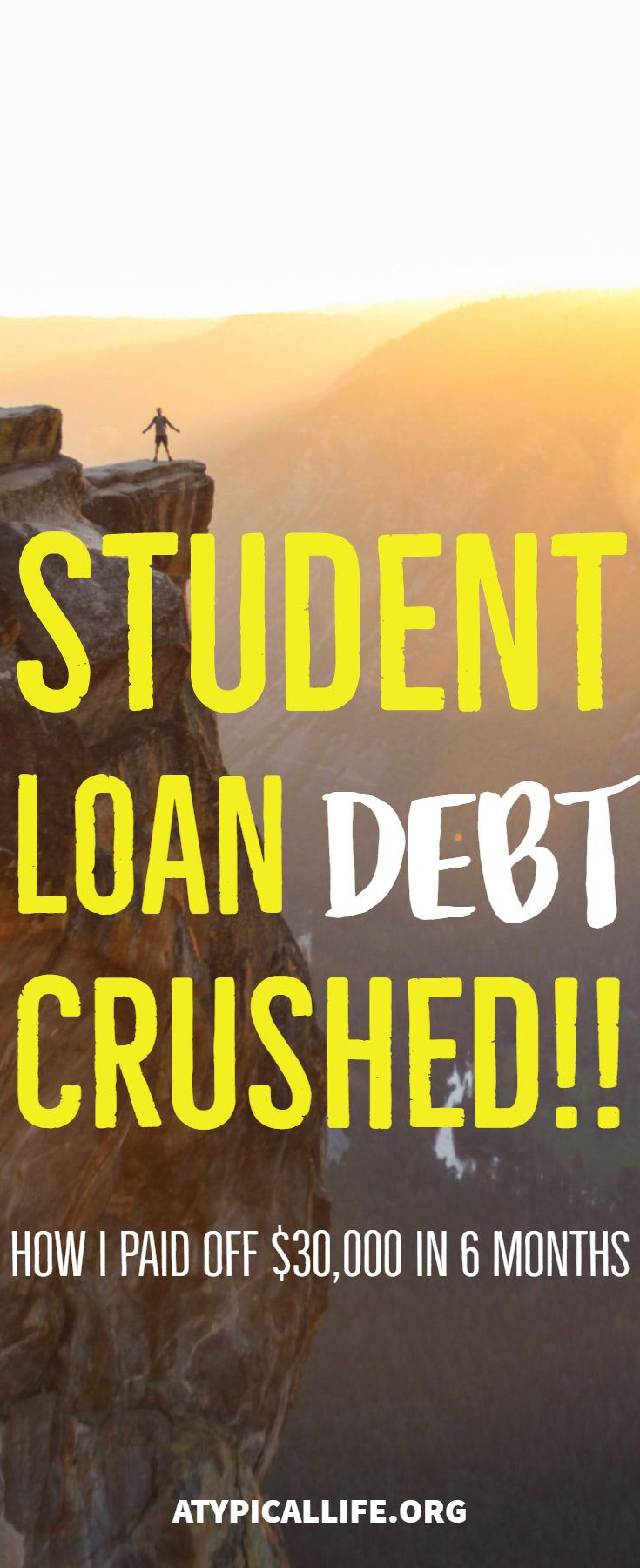 How i paid off 30000 in student loan debt in 6 months