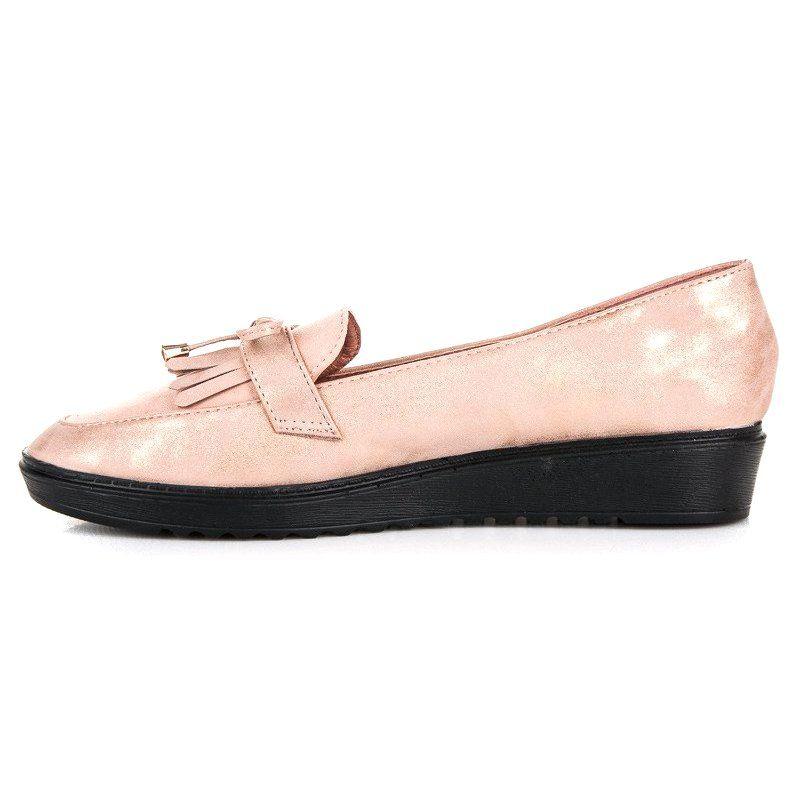 Mokasyny Damskie Queenvivi Rozowe Modne Mokasyny Na Wiosne Queen Vivi Boat Shoes Sperry Boat Shoe Loafers
