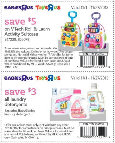 Babies R Us Babies R Us Learning Activities Coupons