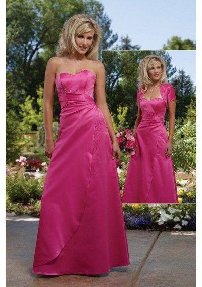 Taffeta Sweetheart A line Skirt Floor Length Bridesmaid Dress