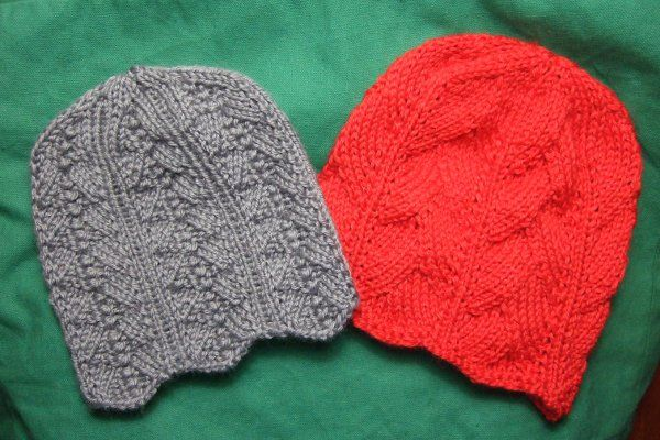 Two Feminine Chemo Caps - Charity Clothing Knitted My Patterns ...