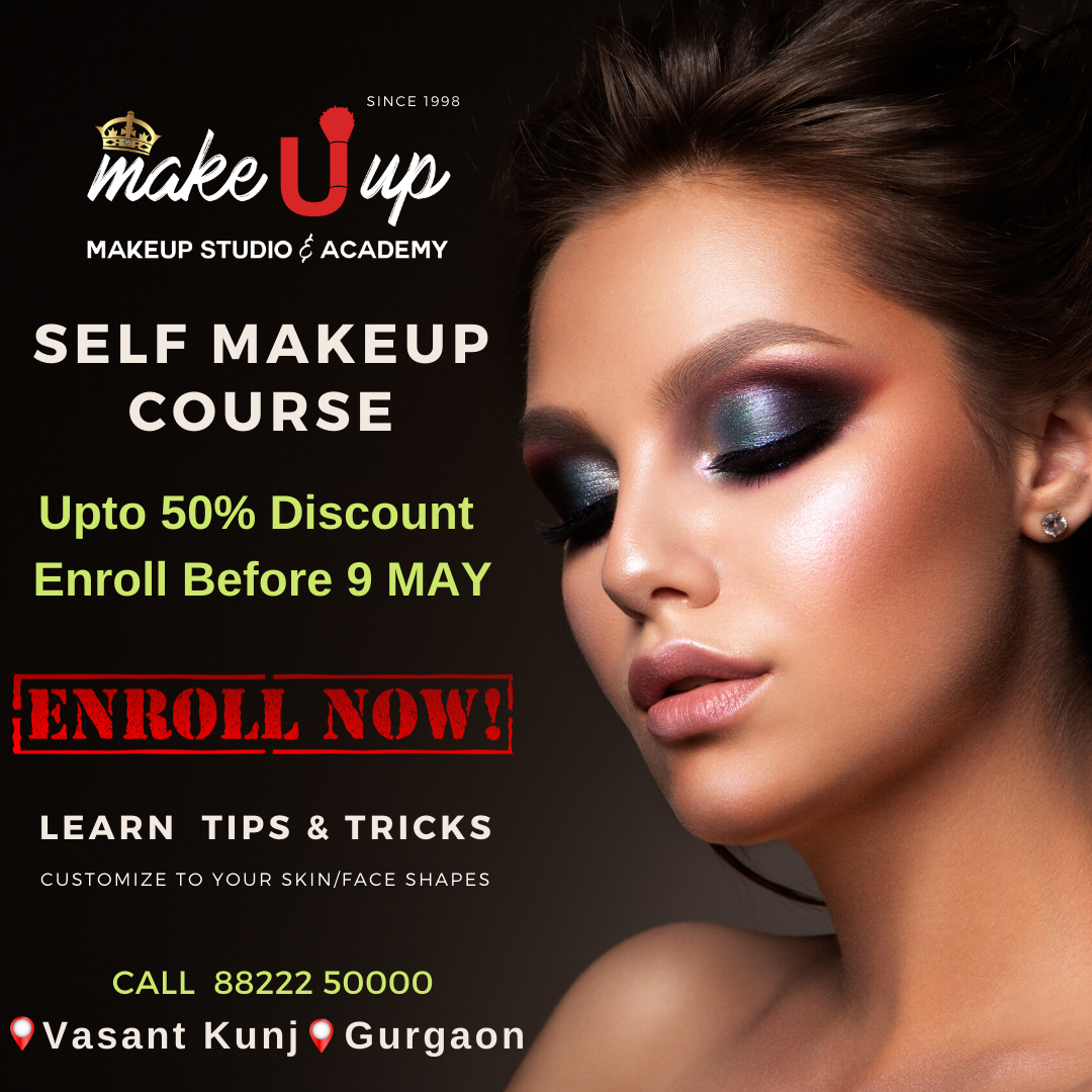Pin on Self Makeup Courses in Delhi