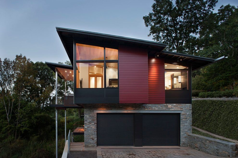 Garage under house designs garage contemporary with windows shed ...