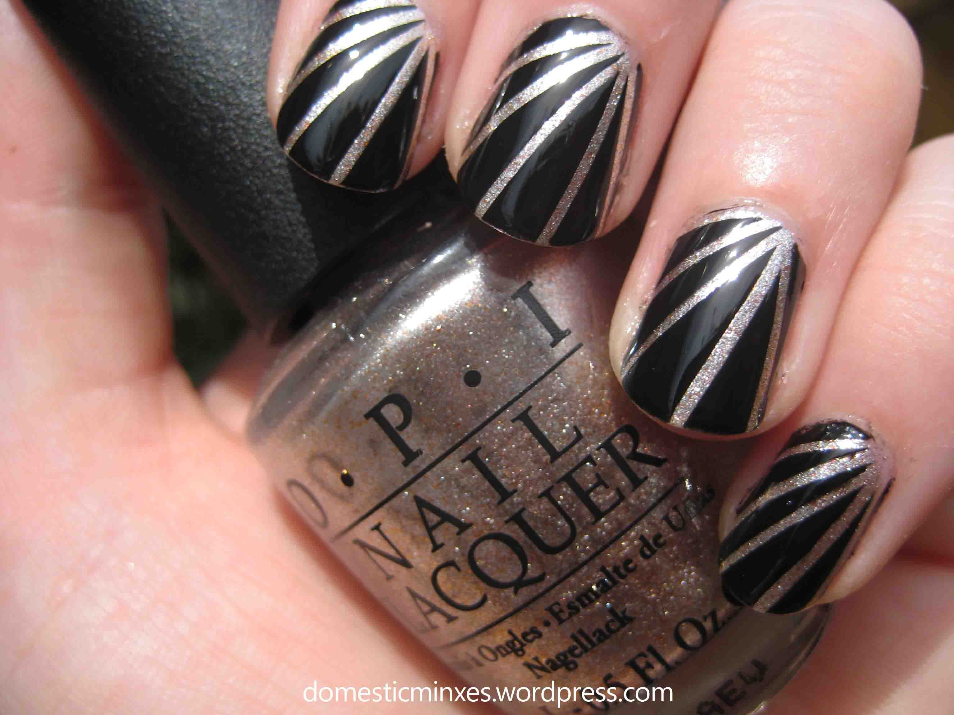 31 day nail challenge day 12 tape nails striping tape and tape nail striping art with tape prinsesfo Image collections