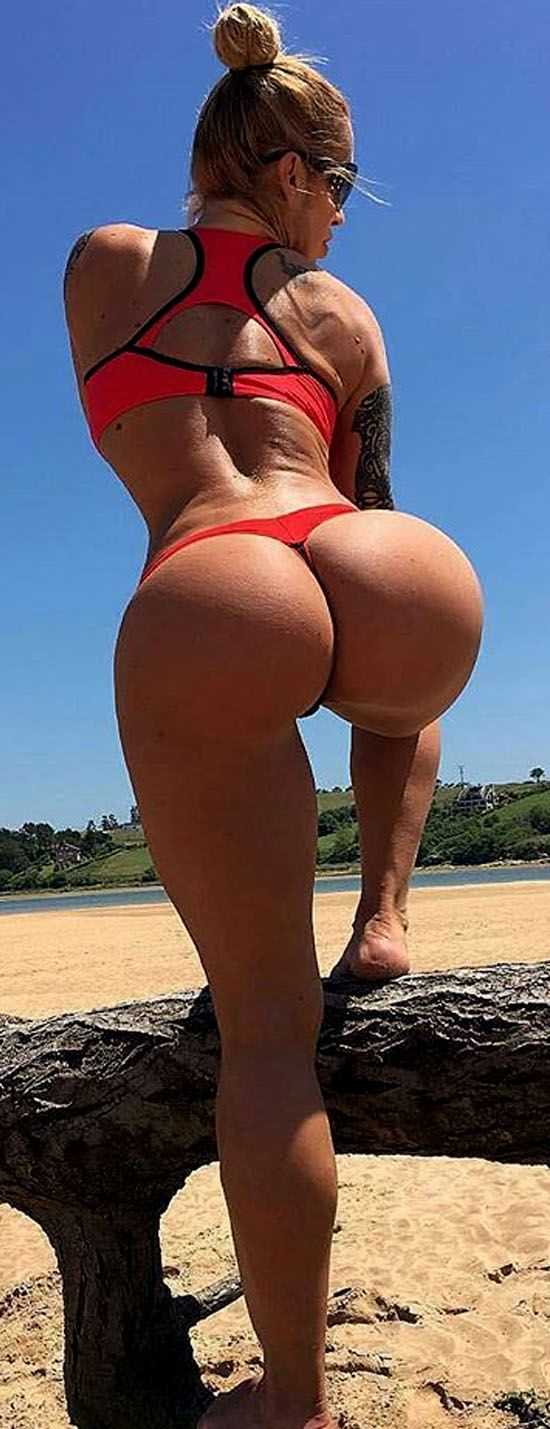 thong Fitness bent over girl