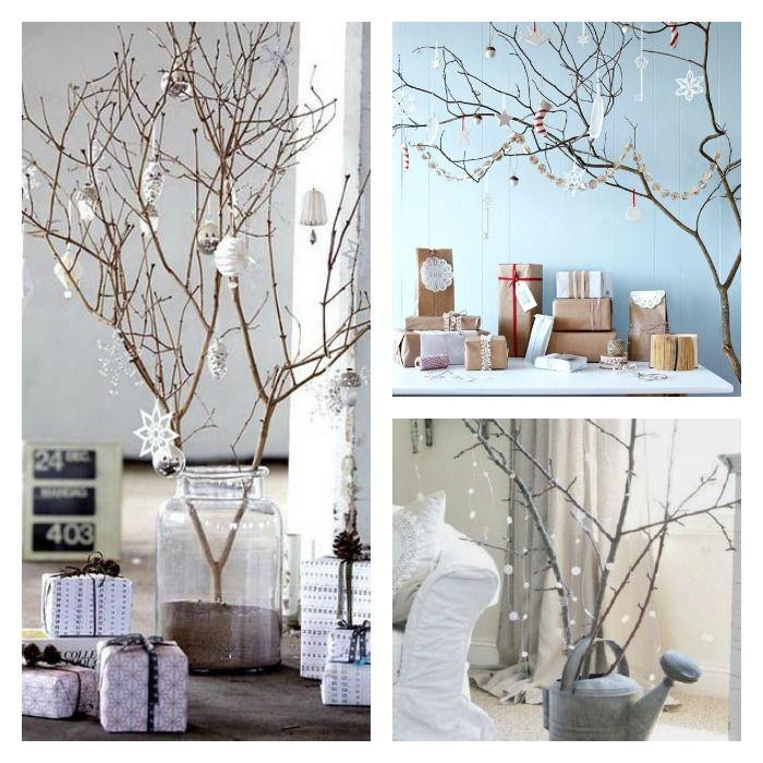 50+ Decoracion de arboles de navidad con ramas secas trends
