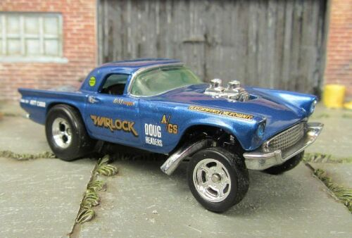 Custom Hot Wheels 1957 Ford Thunderbird Gasser Real Riders Metal Base Pearl Blu Ebay I Started With A Vintage In 2020 Custom Hot Wheels Hot Wheels Ford Thunderbird
