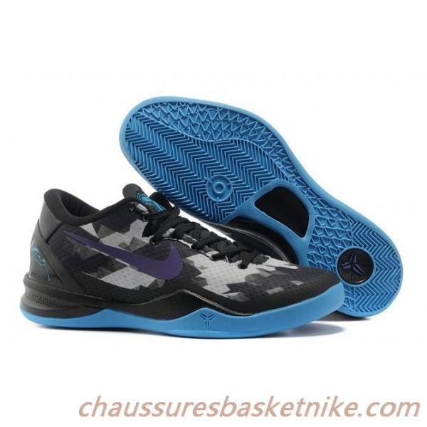 meilleur pas cher 4f39b 186d0 Nike Kobe VIII 8 Chaussures Hommes Elite Loup Gris Noir Bleu ...