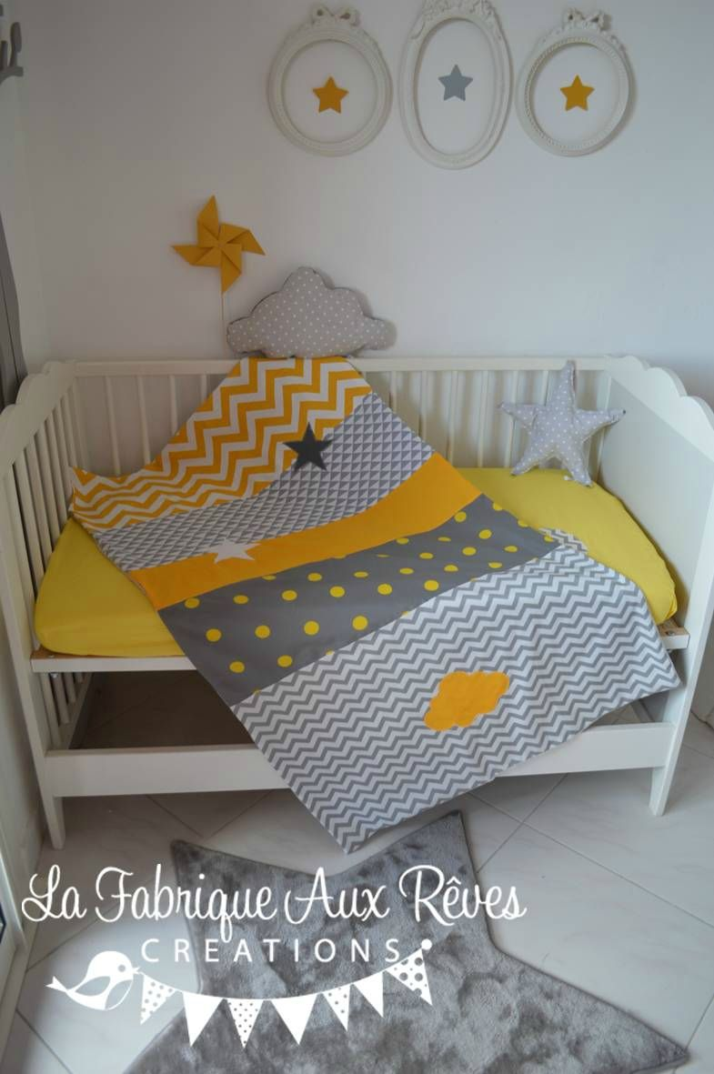 couverture b b jaune gris chevron pois toiles lune nuage g om trique polaire minky b b. Black Bedroom Furniture Sets. Home Design Ideas