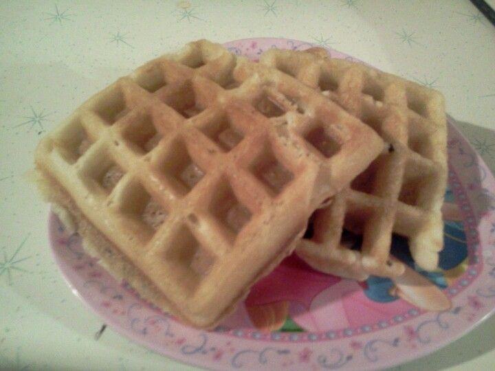 Albertsons brand waffle mix. Turned out wonderfully.