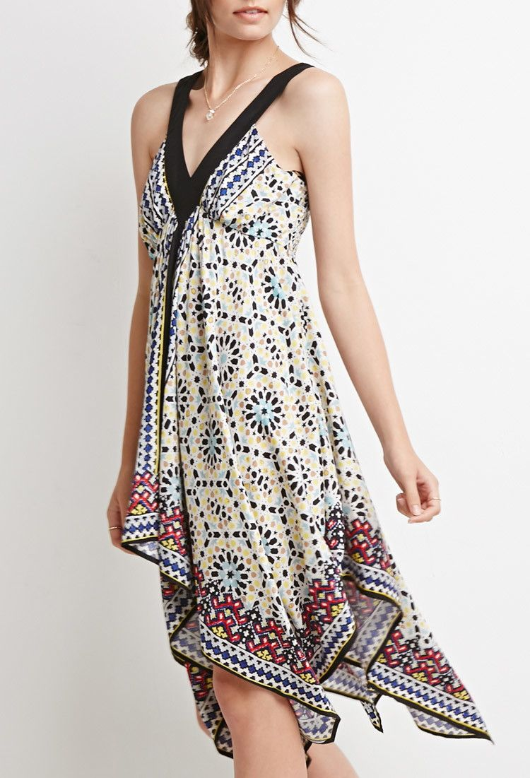 Abstract Scarf Print Dress - Dresses - 2000131814 - Forever 21 UK
